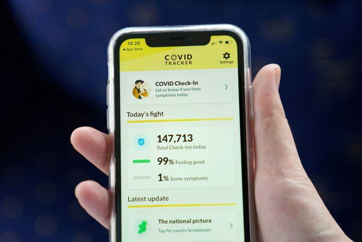 Die irische Corona-Warn-App bietet neben der Risikoermittlung noch weitere Funktionen