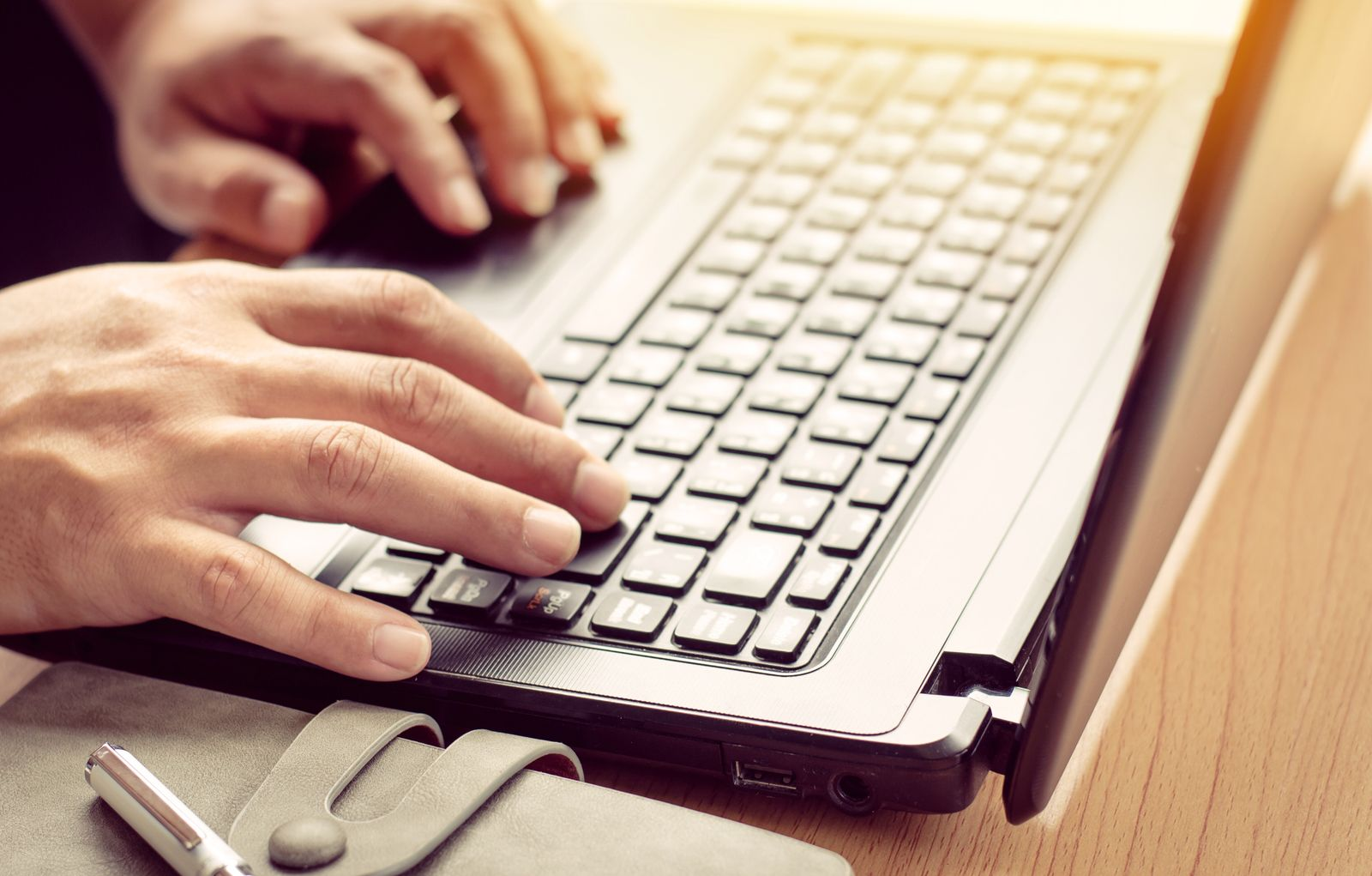 Closeup hand are using laptops (YAY Micro)