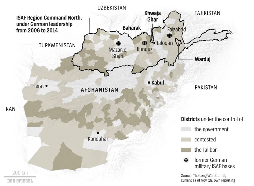 Map International Afghanistan Regions