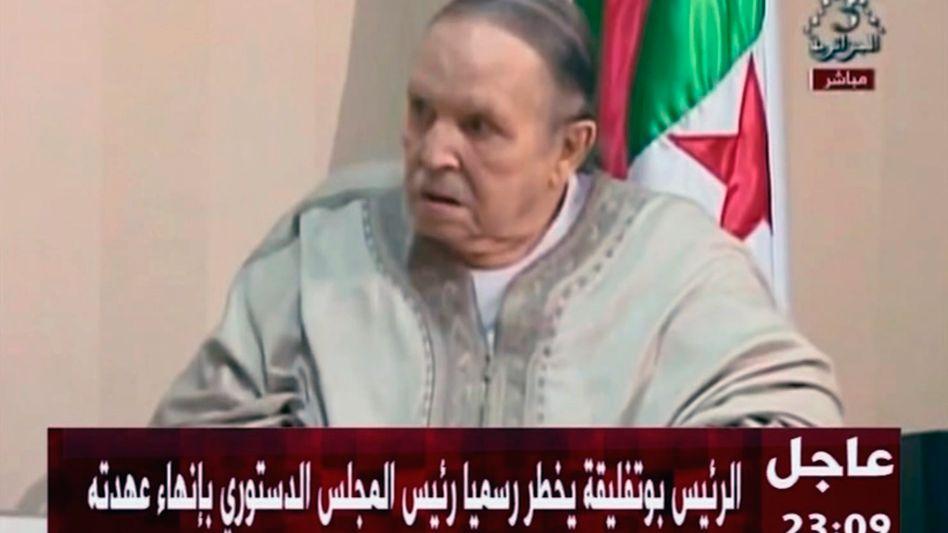 Abdelaziz Bouteflika im Staatlichen Fernsehen Algeriens