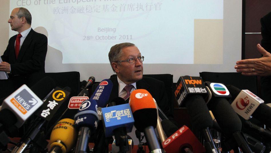 EFSF-Chef Klaus Regling auf Pressekonferenz in Peking: Auf der Suche nach Chinas Kapital
