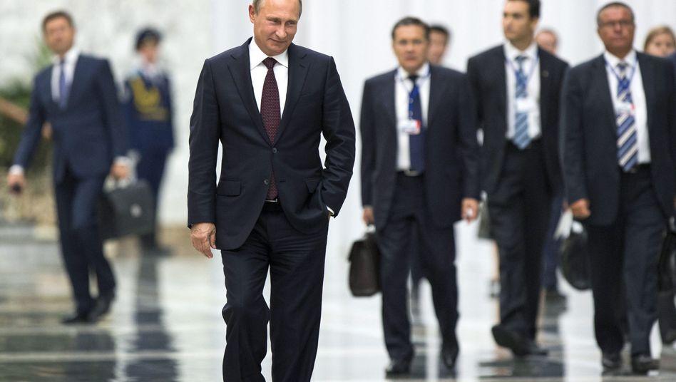 Russischer Präsident Putin (am 27. August): Immer neue Behauptungen