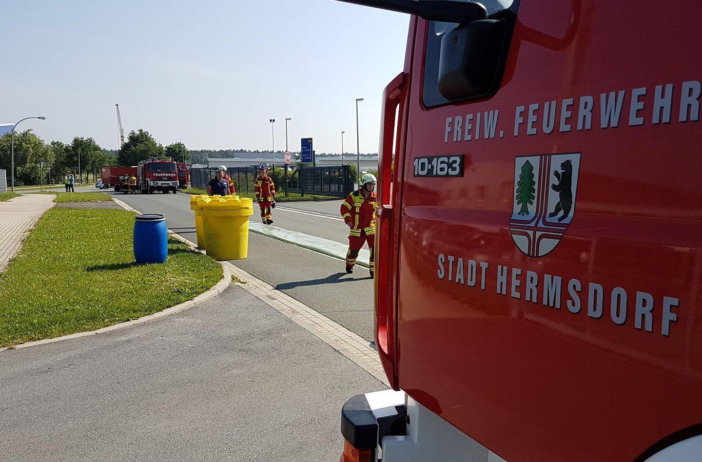 Gefahrgutunfall in Hermsdorf