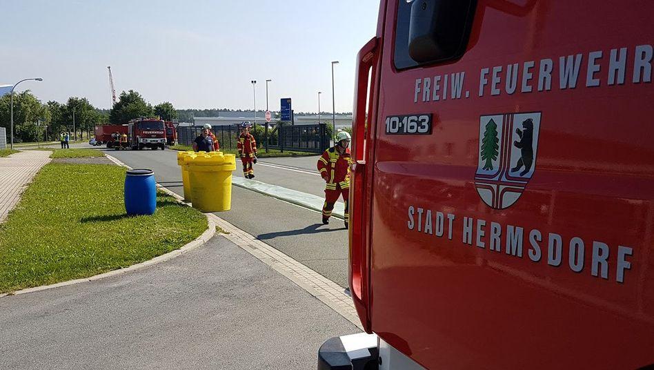 Gefahrgutunfall im Gewerbegebiet Hermsdorf