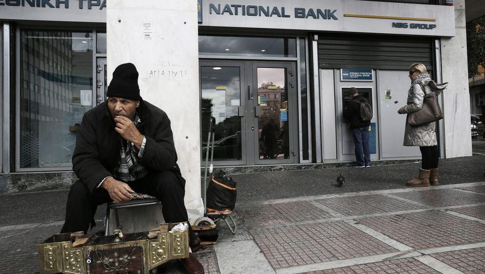 Bankfiliale in Athen: War die EU-Hilfe kein Akt der Solidarität?