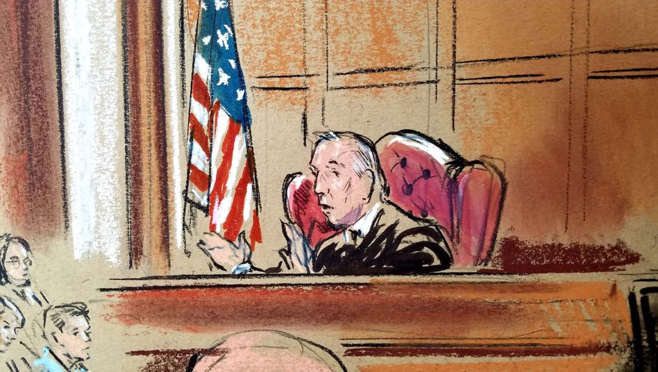 Richter T.S. Ellis (Gerichtszeichnung)