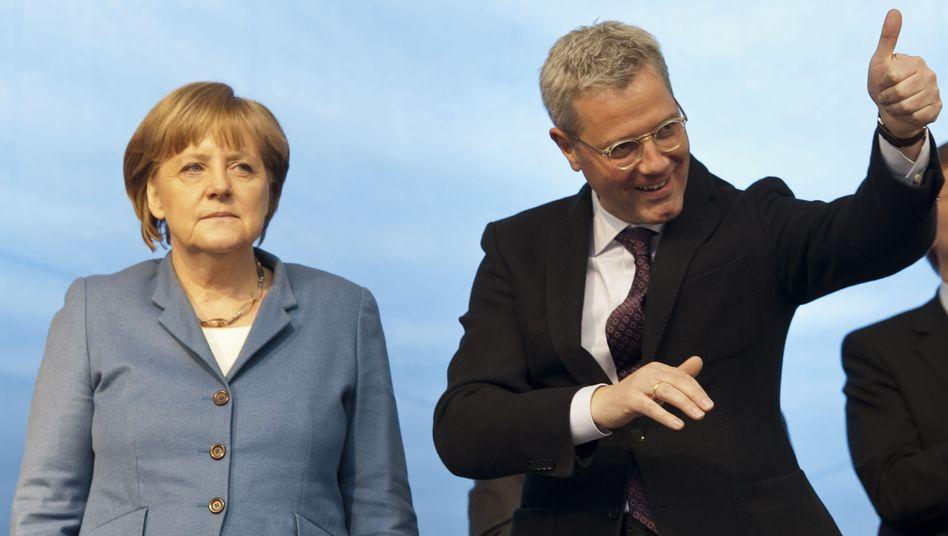 """Merkel, Röttgen im Wahlkampf: """"Das war ein bisschen Ironie"""""""
