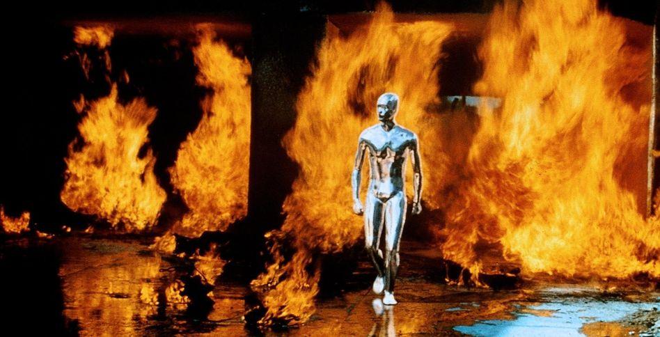 """Szene aus """"Terminator 2"""", 1991: """"Wir bauen Roboter, die für uns Kriege führen."""""""