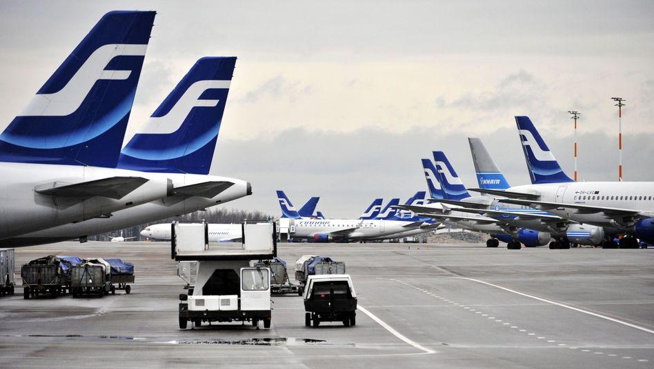 Helsinki: Flughafen im Normalbetrieb - bis die Skater kamen