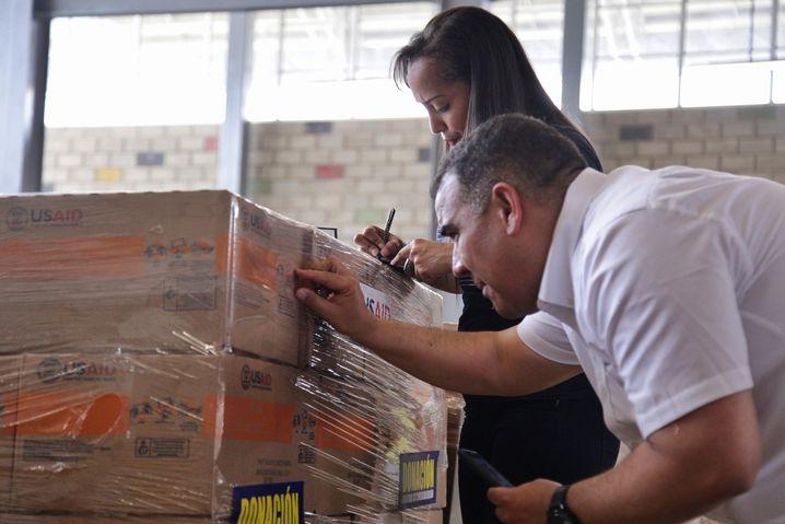US-Hilfsgüter im kolumbianischen Cúcucuta