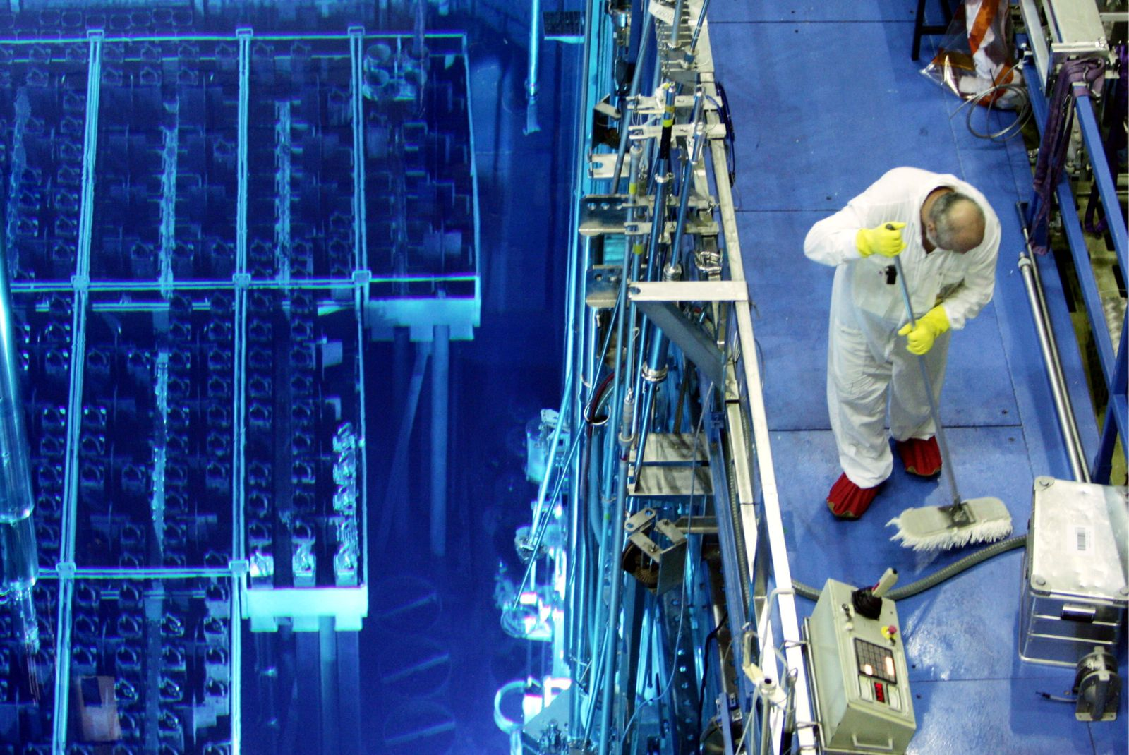 NICHT VERWENDEN Mitarbeiter AKW Atomkraftwerk Arbeiter