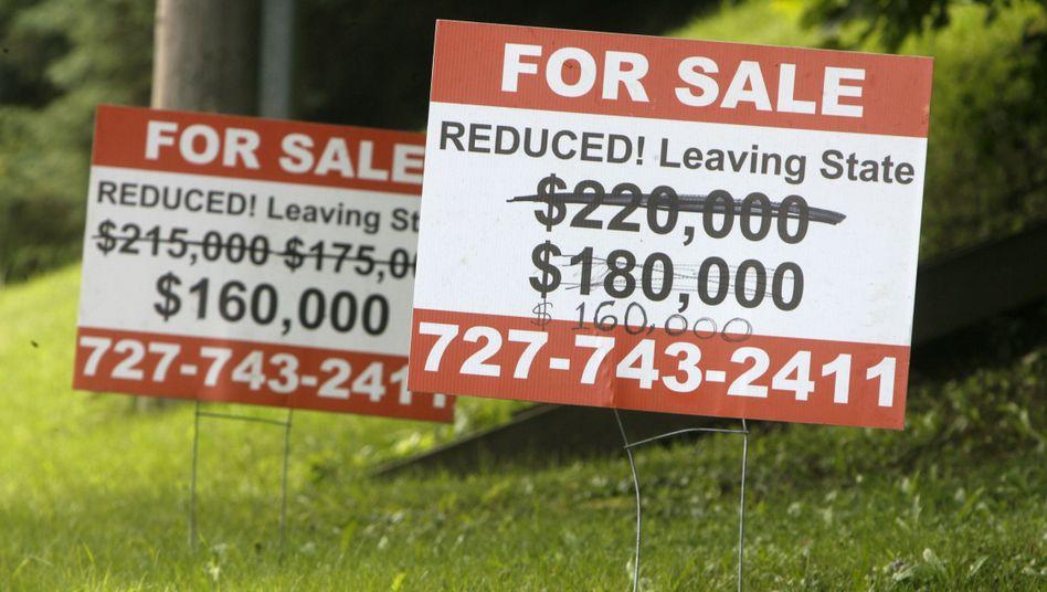 US-Häuser im Schlussverkauf (Archiv): Schadensersatz für 250 Milliarden Dollar