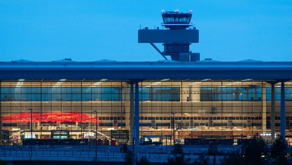 The lights are on, but there won't be any flights from Berlin Brandenburg International airport until at least October 2013.