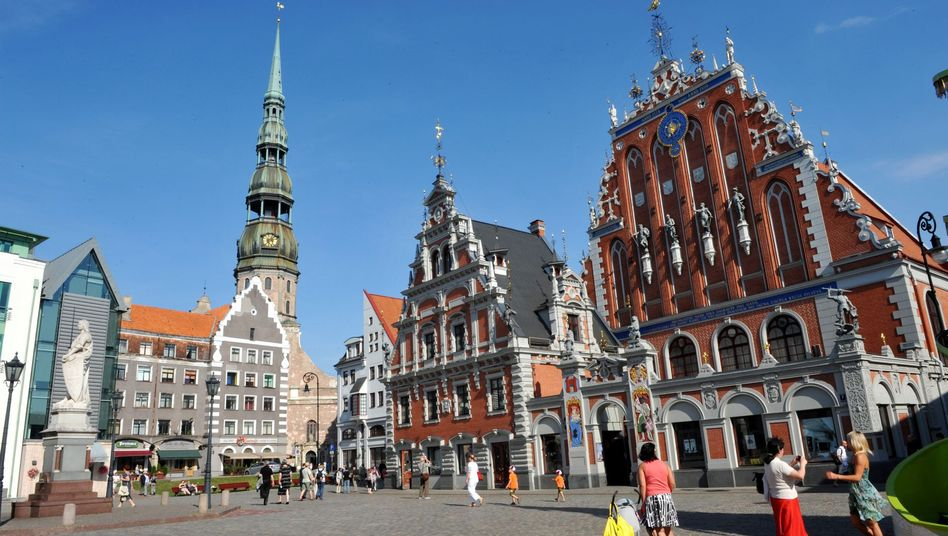 Riga, Latvia's old city center. The country joins the euro zone in 2014.