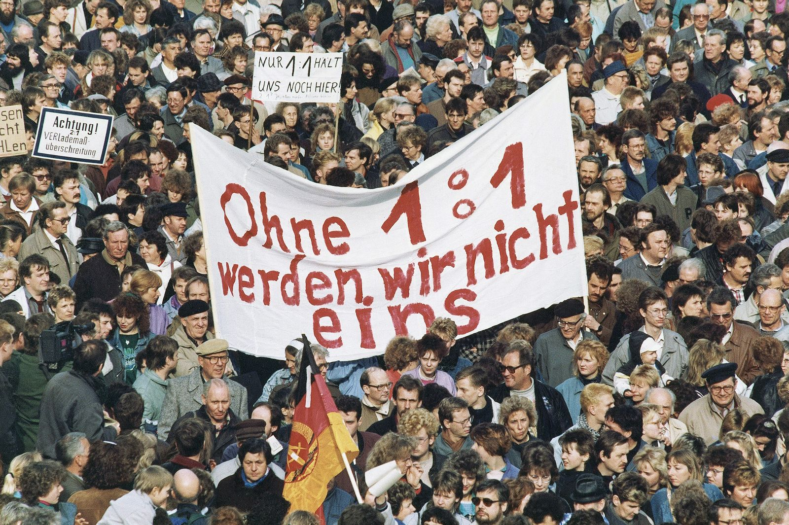 Germany Berlin Currency Union Demonstration