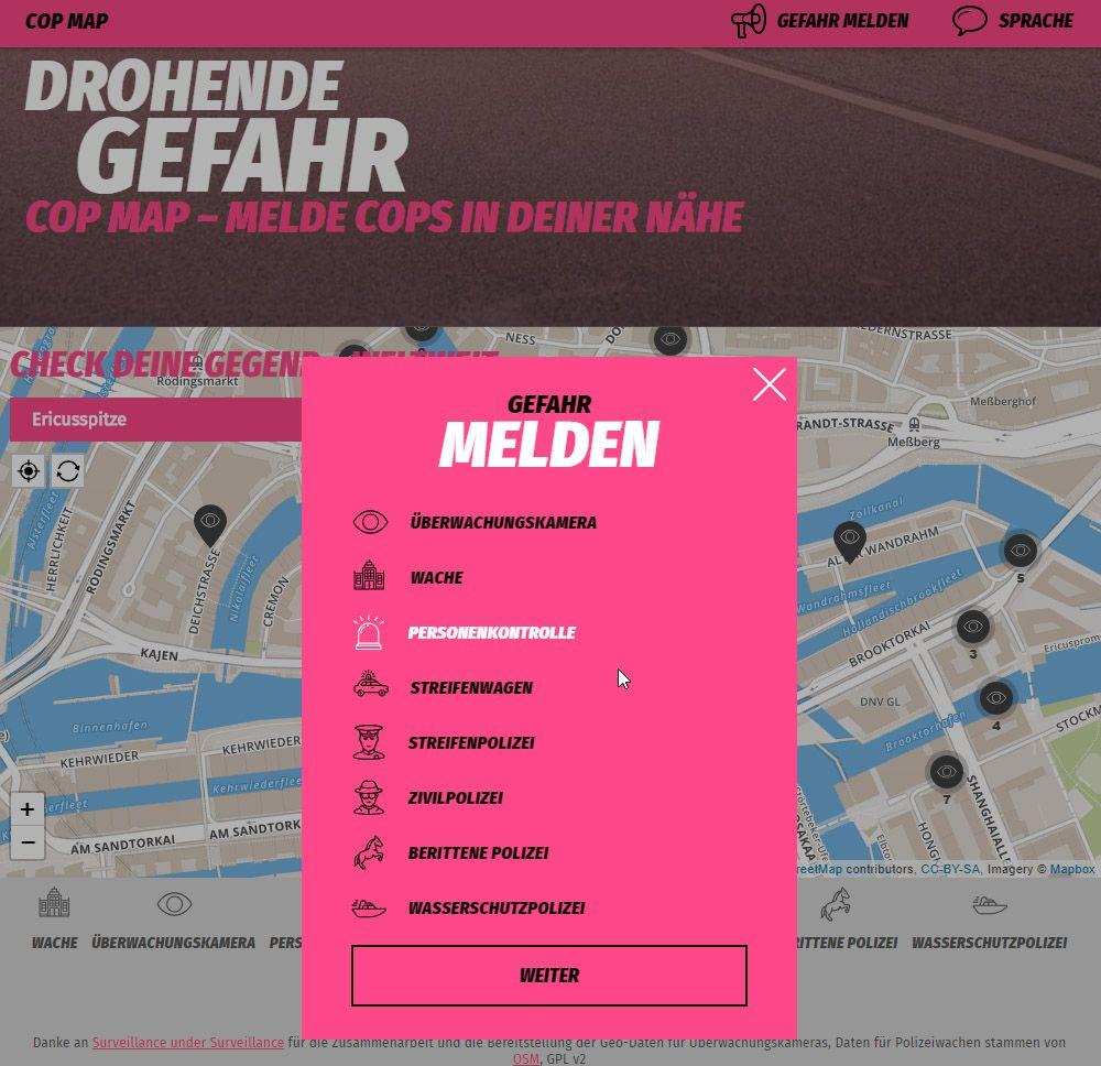 NUR ALS ZITAT Cop Map Screenshot