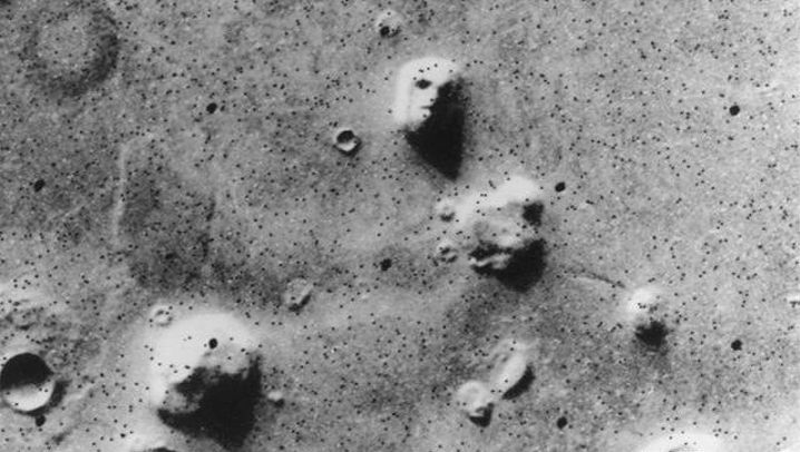 Fotos vom Mars: Gesicht, Person und Löffel