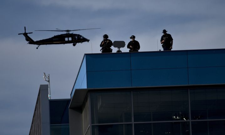US-Grenzpersonal am Übergang zu Mexiko in Tijuana