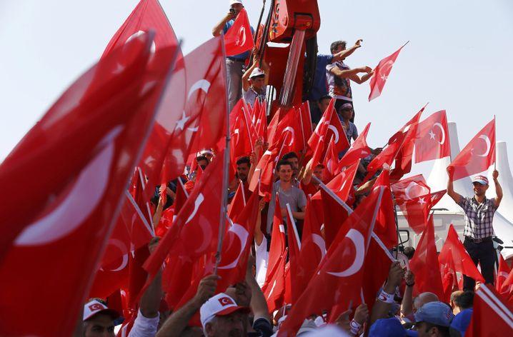 Kundgebungsteilnehmer in Istanbul