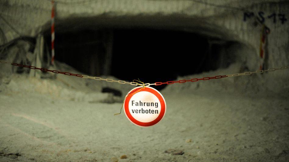 """Kammer in der Asse (im Juni 2009): """"Öffentliche Diskussion der Laugenzutritte vermeiden"""""""