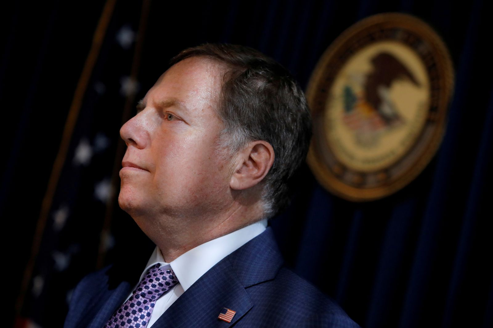 FILE PHOTO: U.S. Attorney for the Southern District Geoffrey S. Berman at a news conference in New York