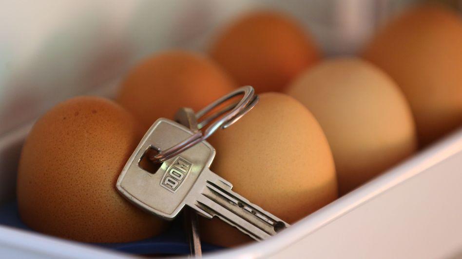 Schlüsselbund im Eierfach (Symbolbild)