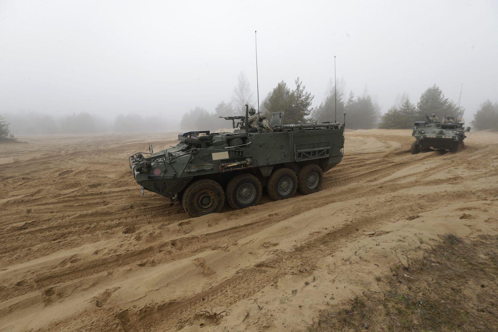 Lettland/ US Stryker
