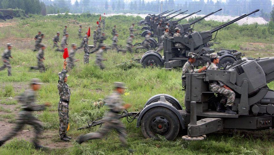 Militärübung in der Provinz Shandong (im August): Armee wächst schneller als Wirtschaft