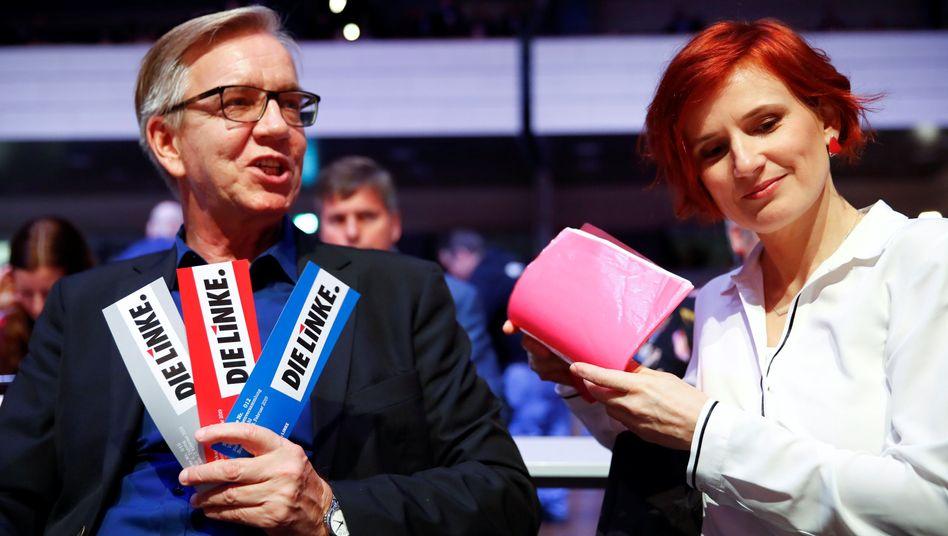 Linken-Bundestagsfraktionschef Dietmar Bartsch, Parteichefin Katja Kipping