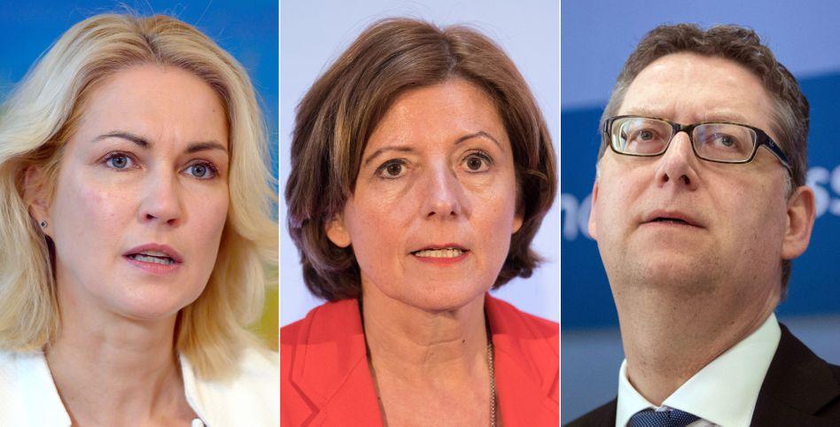 Neue SPD-Troika: Schwesig, Dreyer, Schäfer-Gümbel