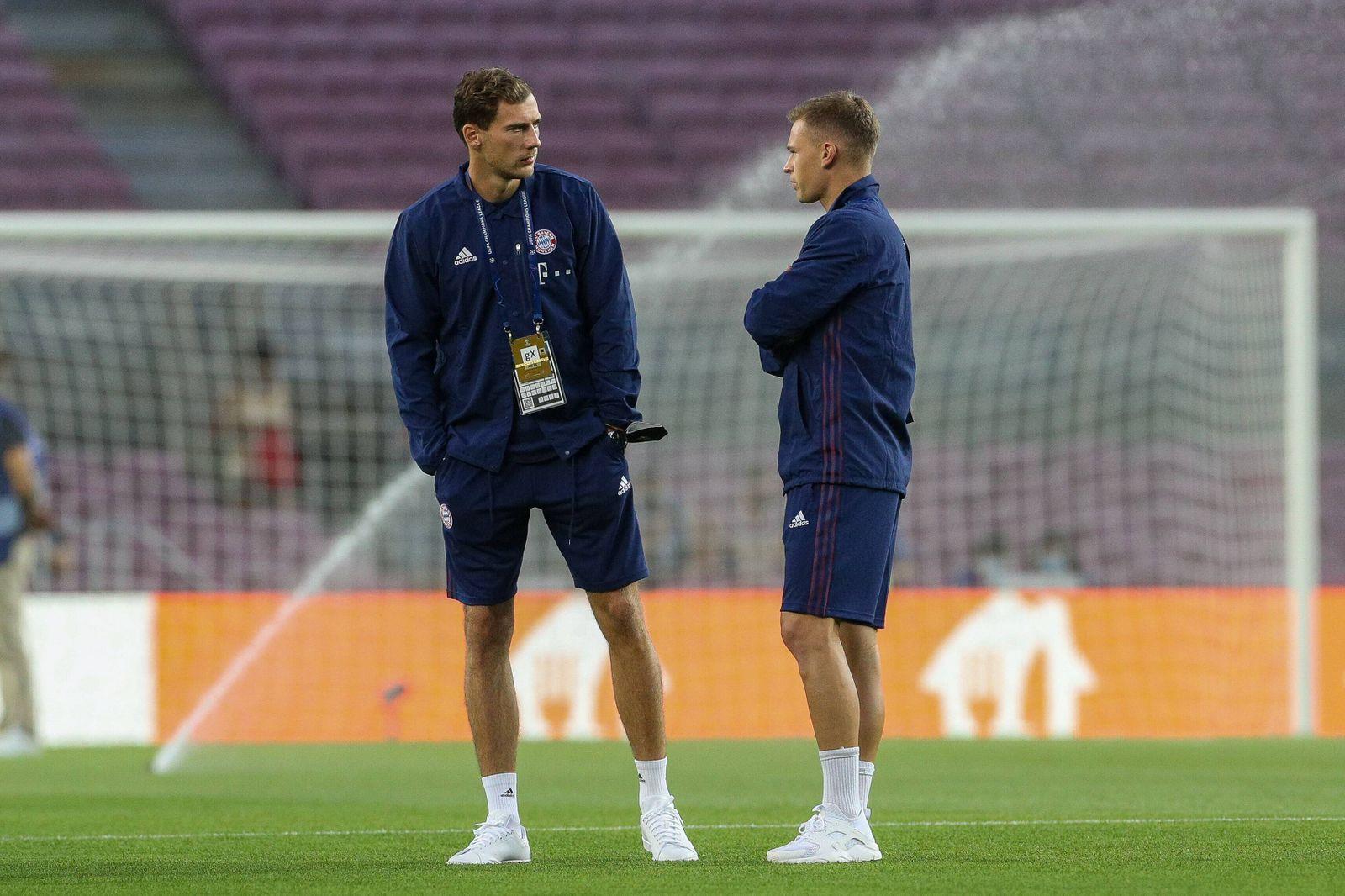 l-r: Leon Goretzka 8 ö(FC Bayern Muenchen), Joshua Kimmich 6 (FC Bayern Muenchen), FC Barcelona, Barca vs. FC Bayern Mu