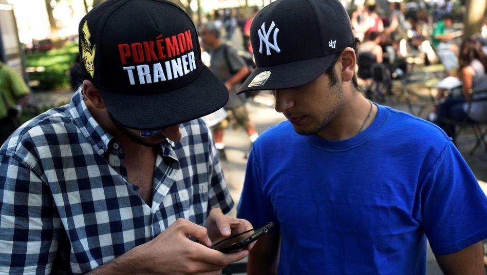 """Pokémon Go""-Spieler in New York"