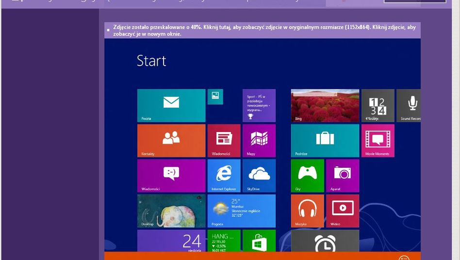 Neue Betriebssystemversion: Screenshot von Windows Blue auf winforum.eu