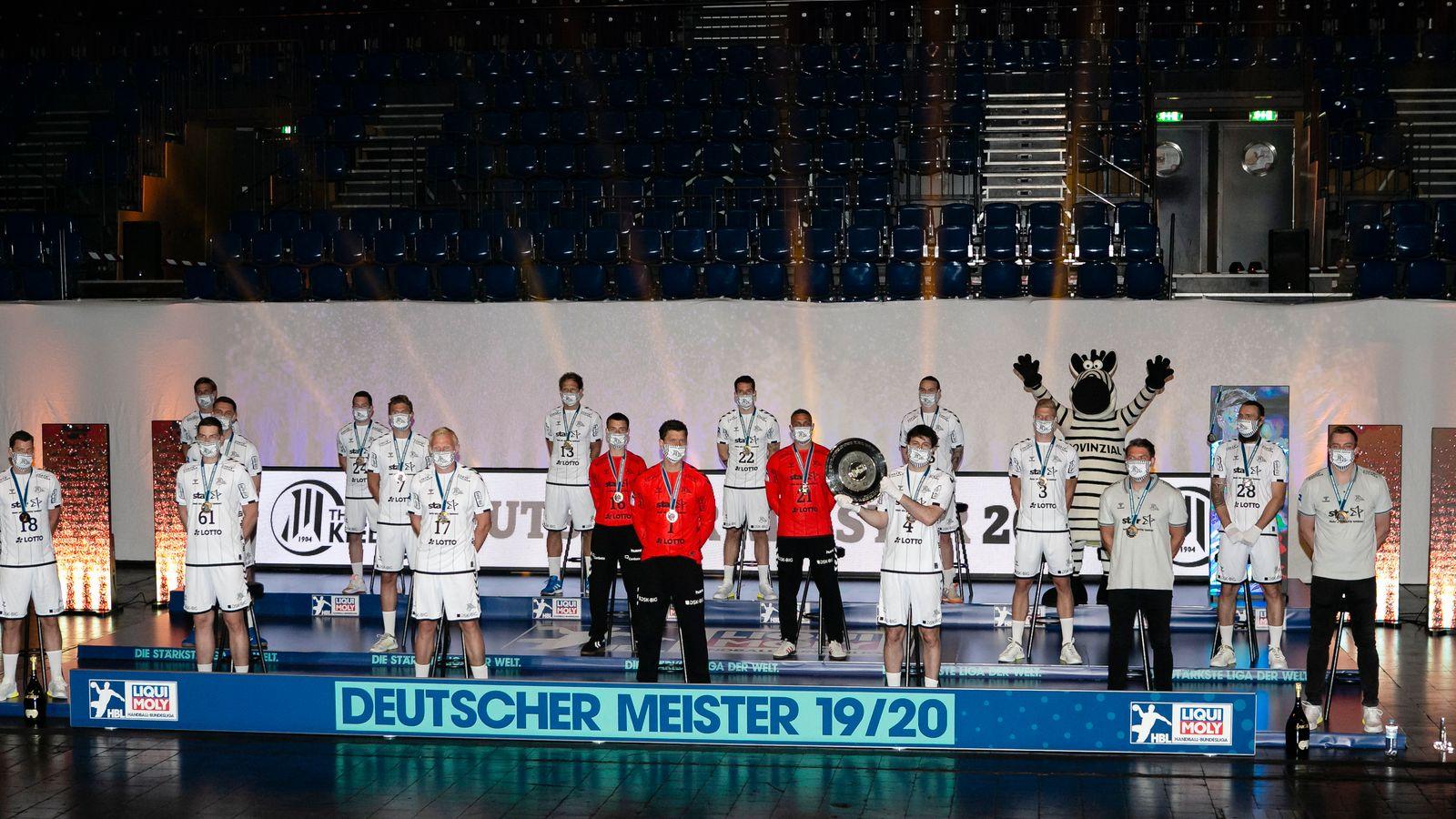 Meisterschale für den THW Kiel
