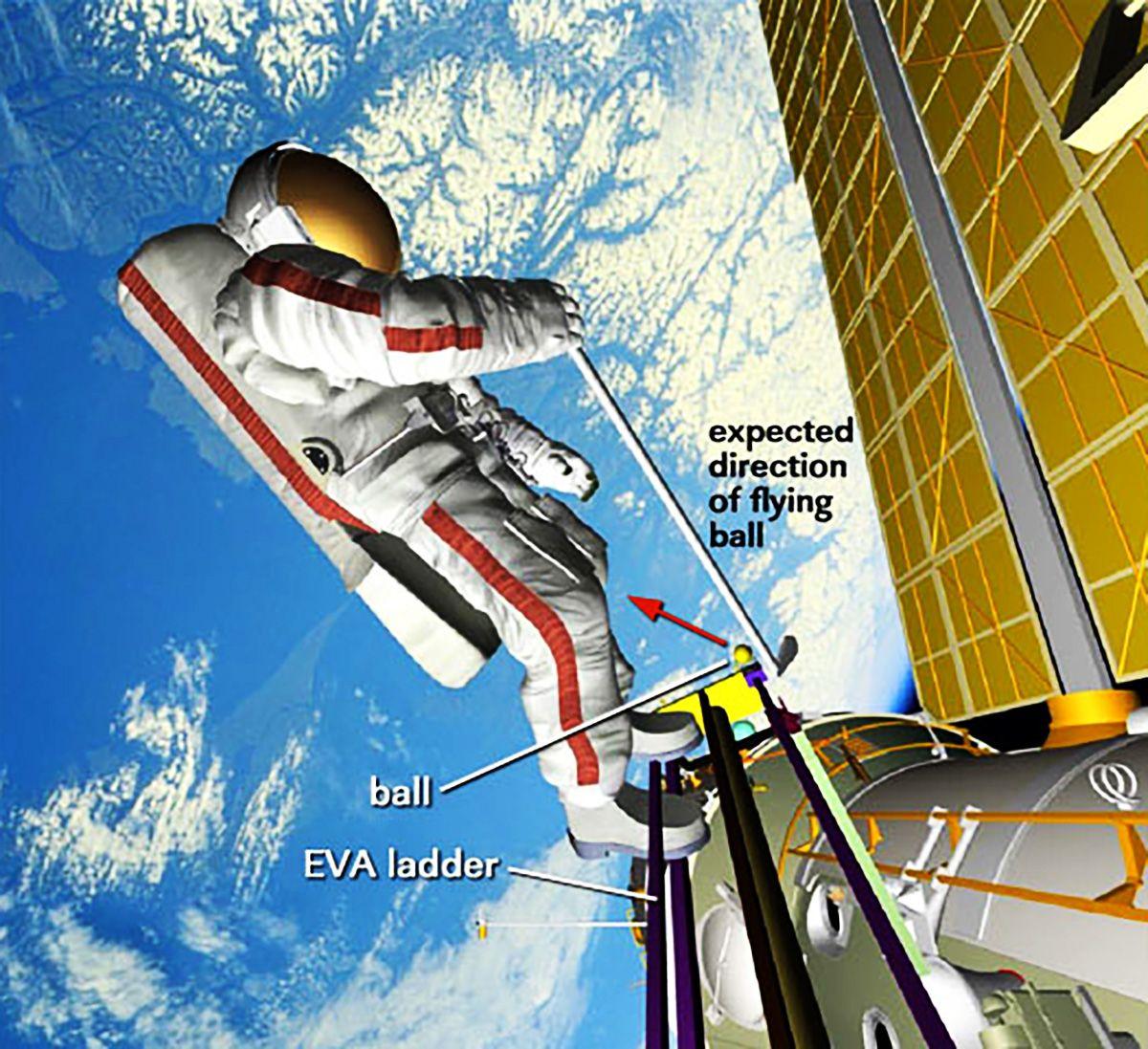 Golfschlag von der Raumstation ISS geplant
