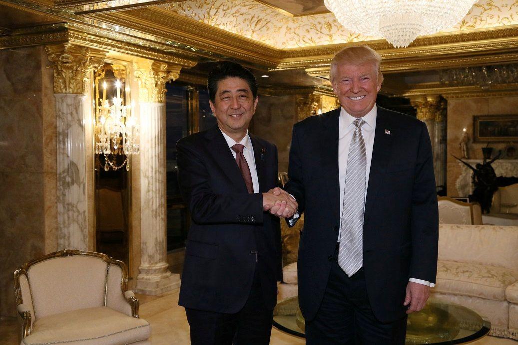 EINMALIGE VERWENDUNG Donald Trump / Shinzo Abe