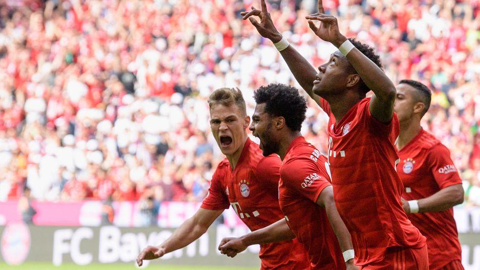 Bayern-Profis: Jubel über das 2:1
