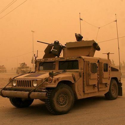 """US-Humvee im Irak: Warten auf """"FRAG Kit 5"""""""