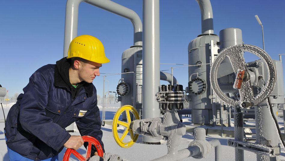 Gasverdichterstation im sächsischen Sayda: Die Speicher werden langsam leer