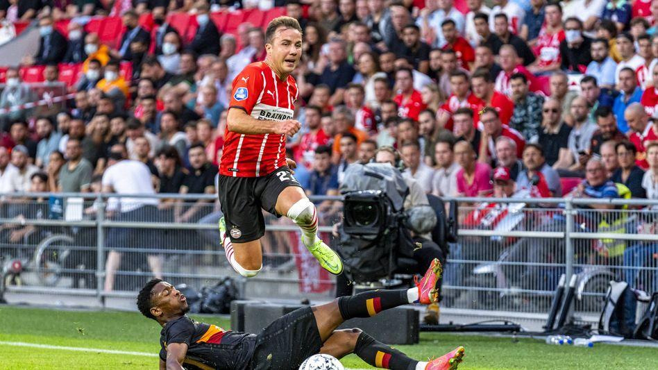 Hürde (fast) übersprungen: Vor dem Rückspiel führt Mario Götze mit Eindhoven gegen Galatasaray 5:1