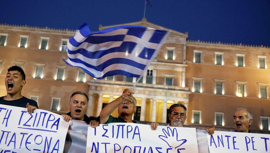 Griechische Demonstranten in Athen (Archivbild)