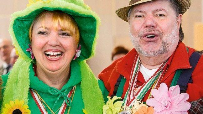 Rot-grüne Karnevalisten Roth, Beck am Rosenmontag in Mainz: »Huch, das passt ja«