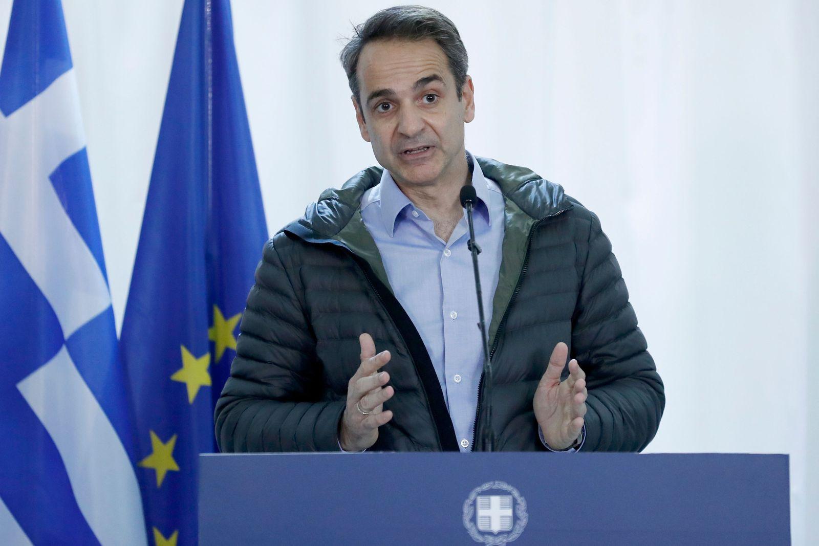 EU officials visit Greek-Turkish border to asses migrant situation, Orestiada, Greece - 03 Mar 2020