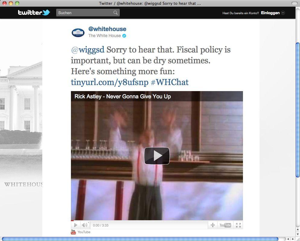 SCREENSHOT Twitter / Weißes Haus / NETZWELT