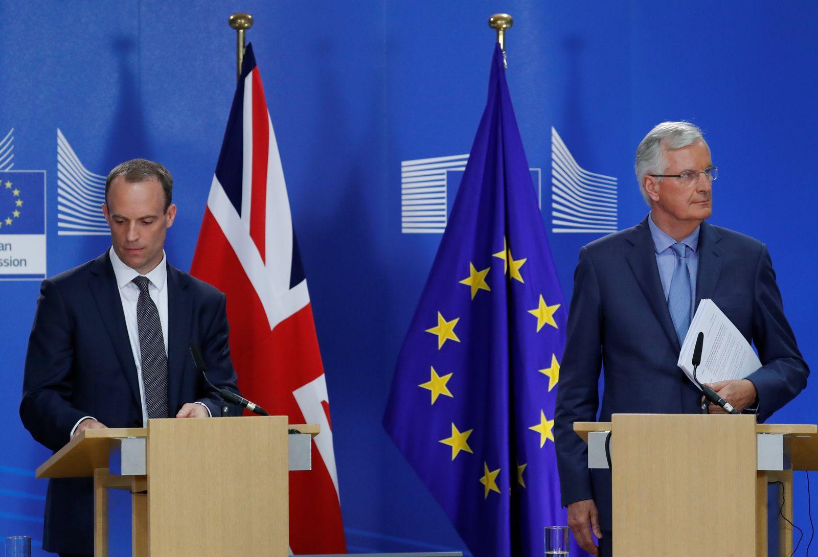 Barnier Raab Brexit
