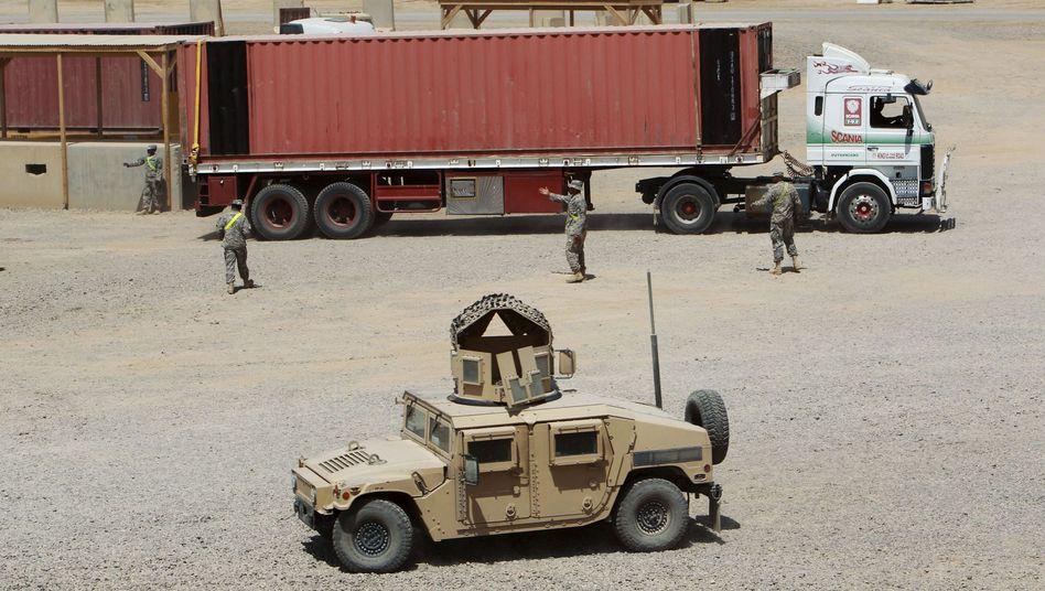 Militärstützpunkt Balad im Irak, 80 Kilometer nördlich von Bagdad