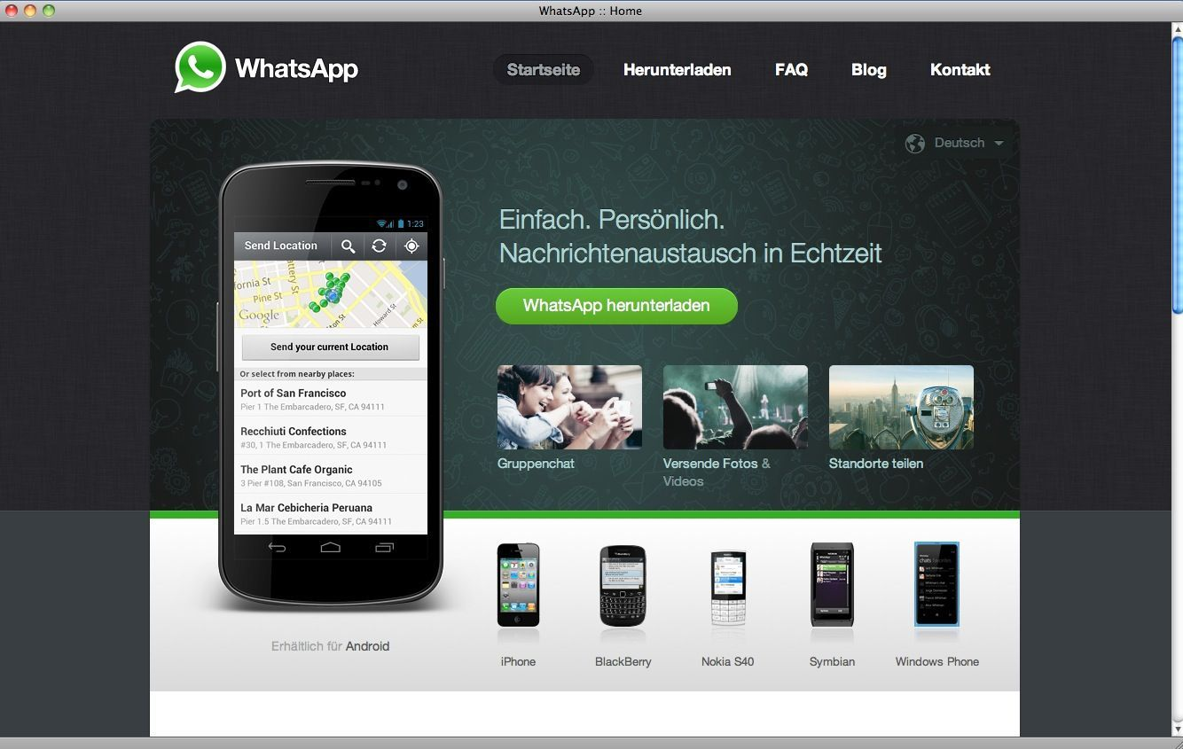 EINMALIGE VERWENDUNG SCREENSHOT / Whatsapp