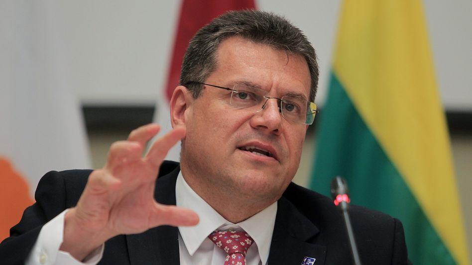 """Kommissionsvize Sefcovic: """"Pipeline würde Versorgung grundlegend verändern"""""""