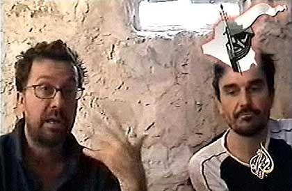 Journalisten Chesnot (links), Malbrunot: Immer noch in Gefangenschaft
