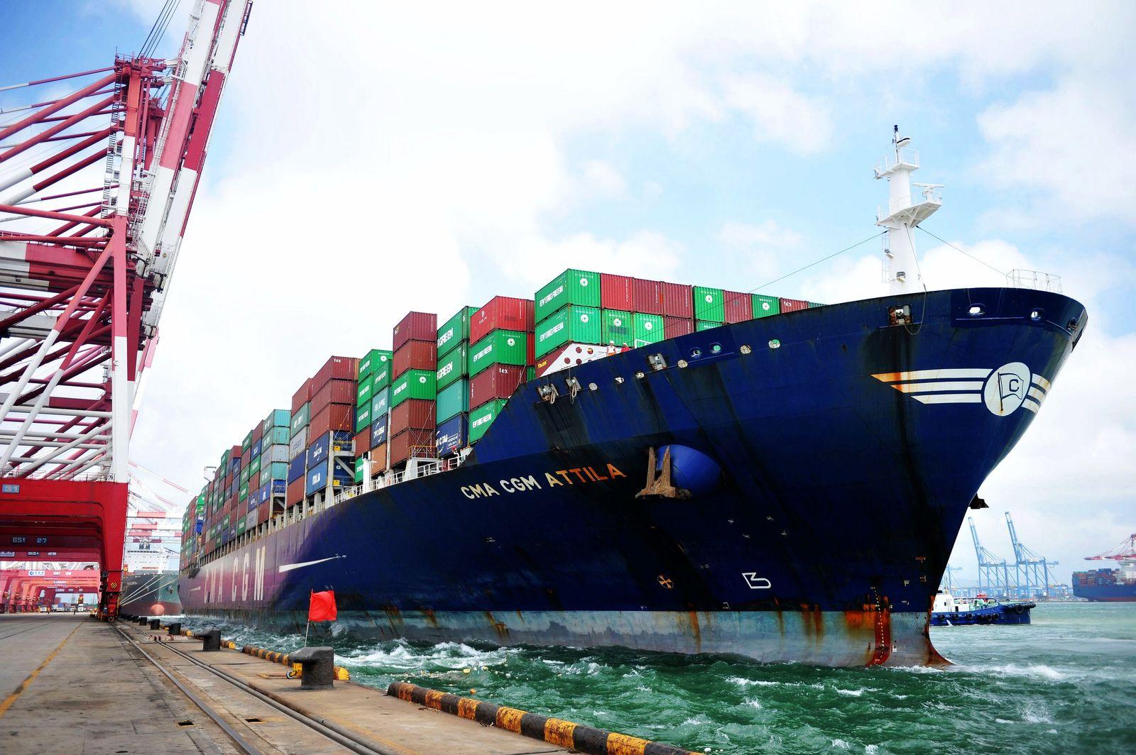 CHINA / IMPORT EXPORT / Konjunktur / Hafen in China / Aussenhandel
